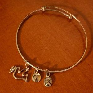 Bella Perlina Dove Charm Bracelet